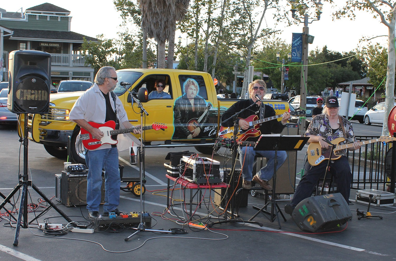 Michael Chain Band performs at Hot Summer Nights 2014 in Temecula
