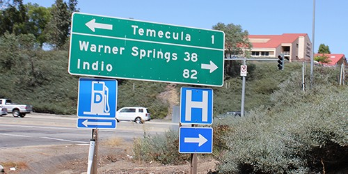 Temecula, one mile to the left