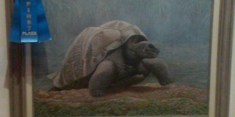 Temecula Valley Art League Fall Juried Art Show first place - Darwin by artist Ronald Schley