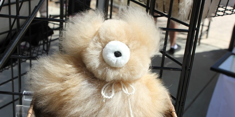 Stuffed toy made from alpaca fur