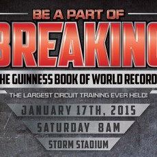 Breaking Records for Charity - Largest Circuit Training at Storm Stadium in Lake Elsinore