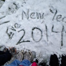 Snow on New Year's Eve 2014 in Temecula
