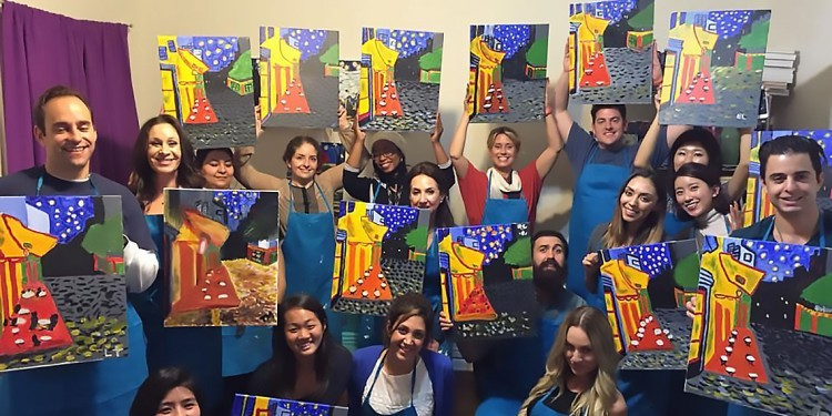What's Up? Temecula Girls' Night Out at Paint and Sip Studio Temecula