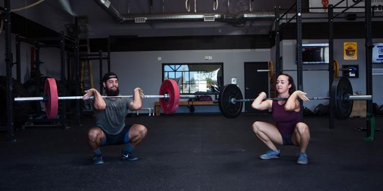 CrossFit traniers Eddie Scheidler and Kelsey Kaliher participate in the Three Wise Men Tribute